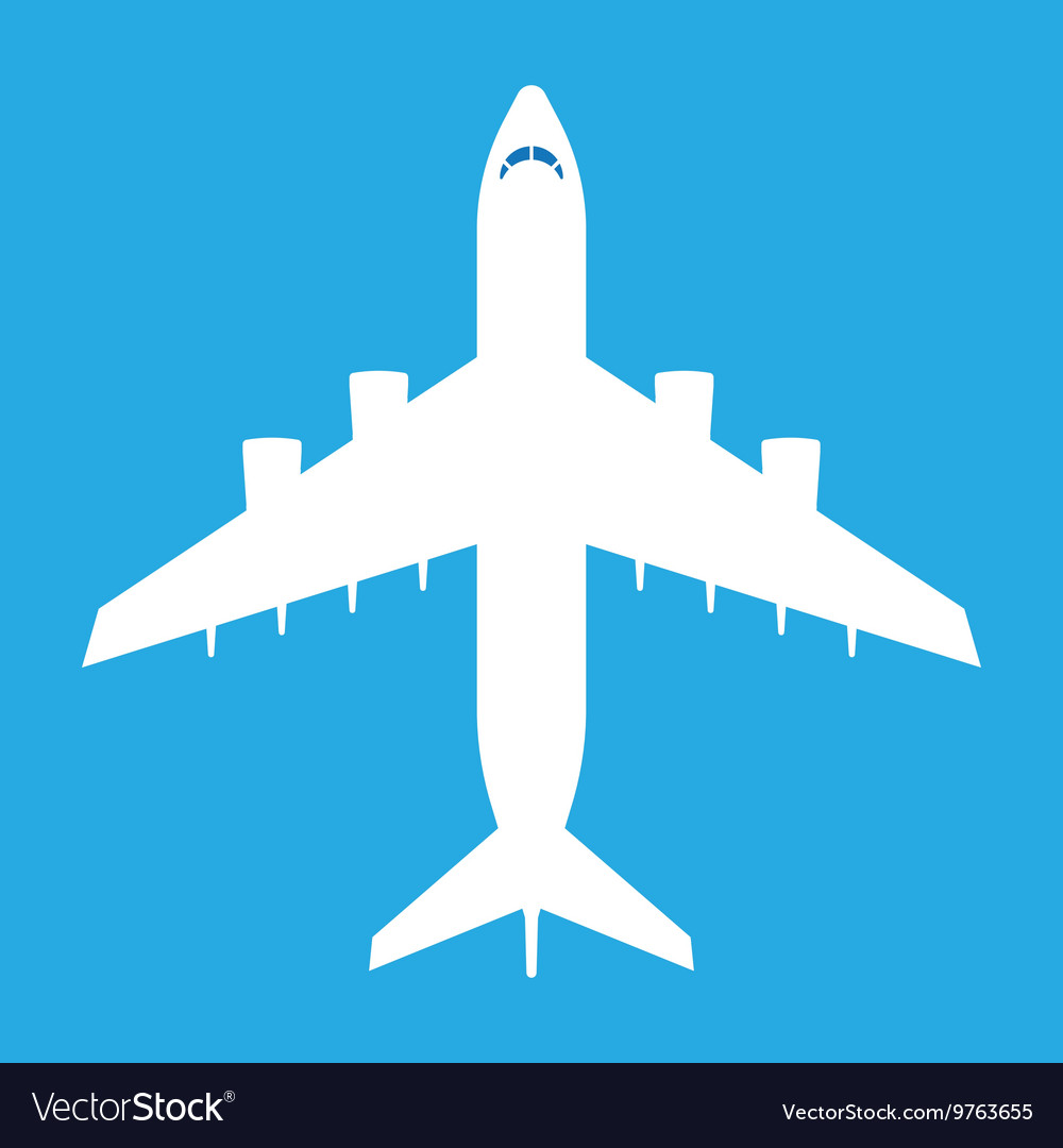 Aircraft Icon Silhouette vector image