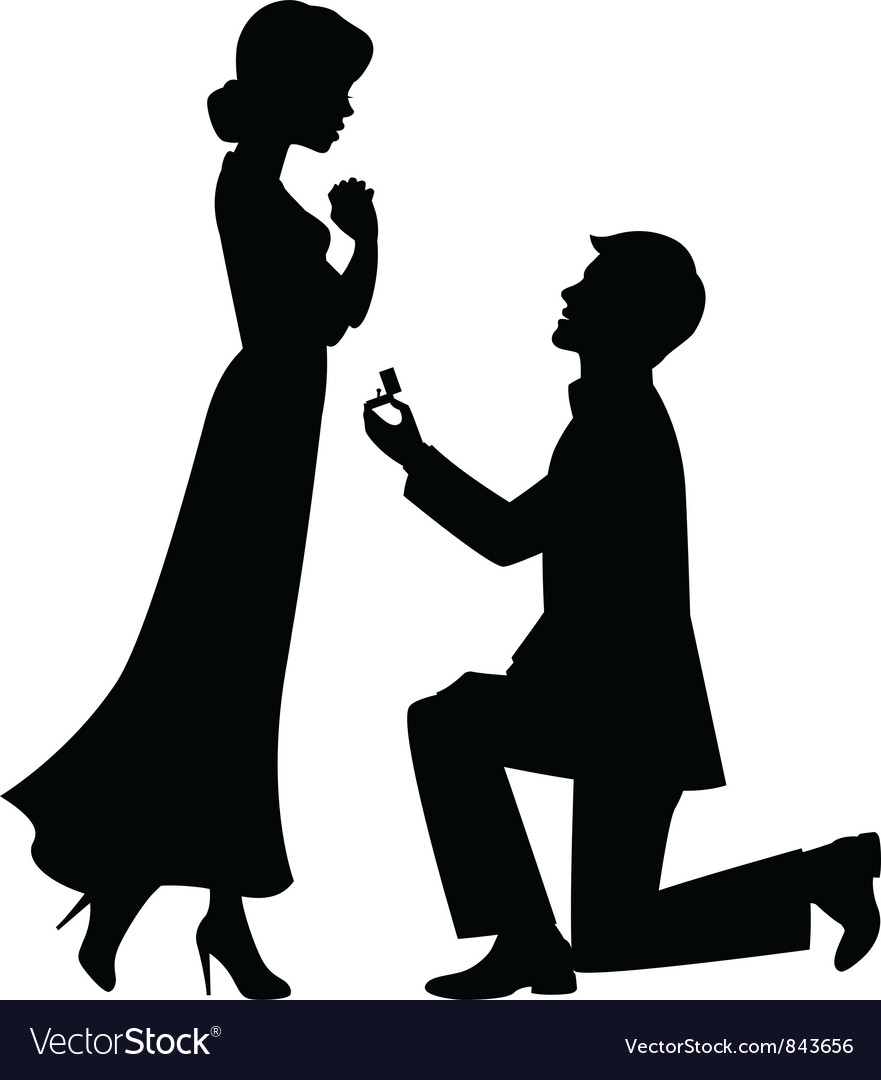 Marriage proposal vector image