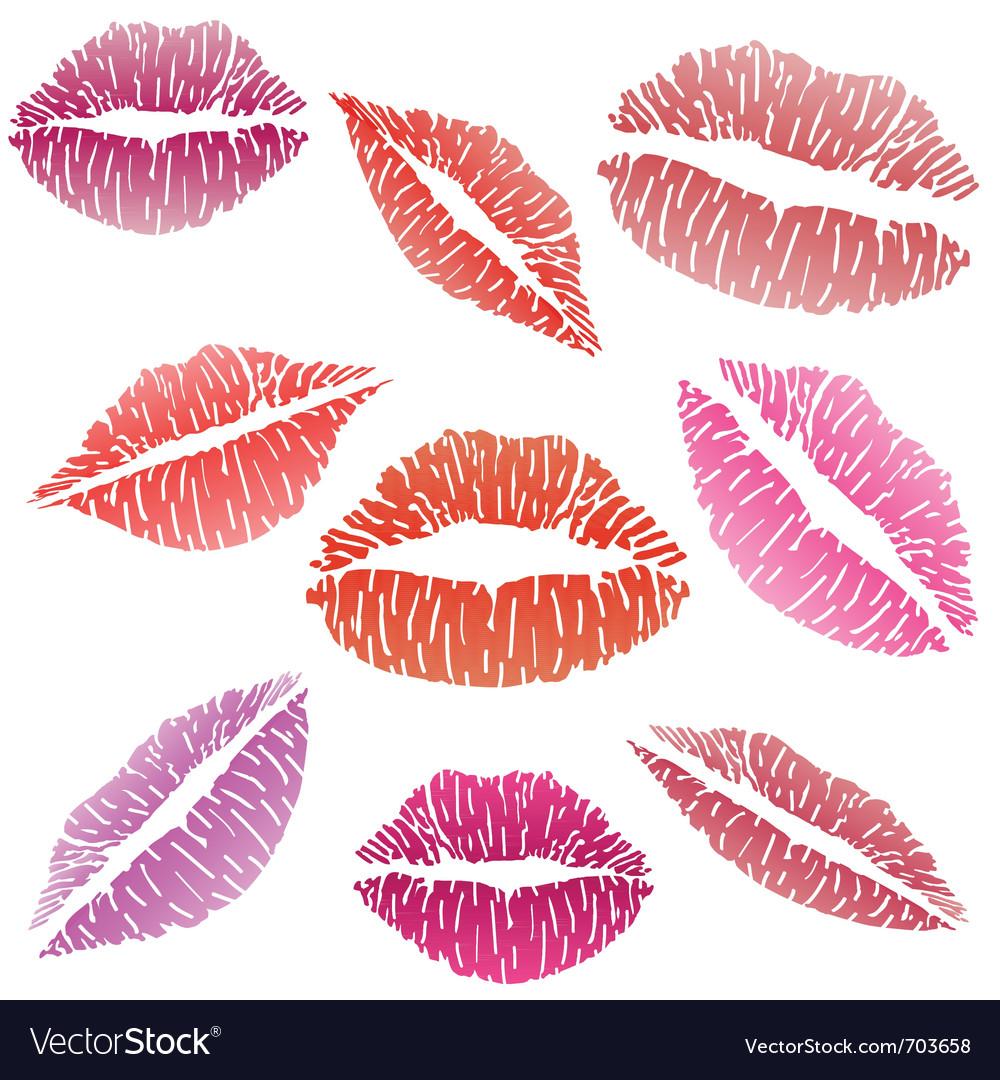 Sexy lipstick kiss vector image