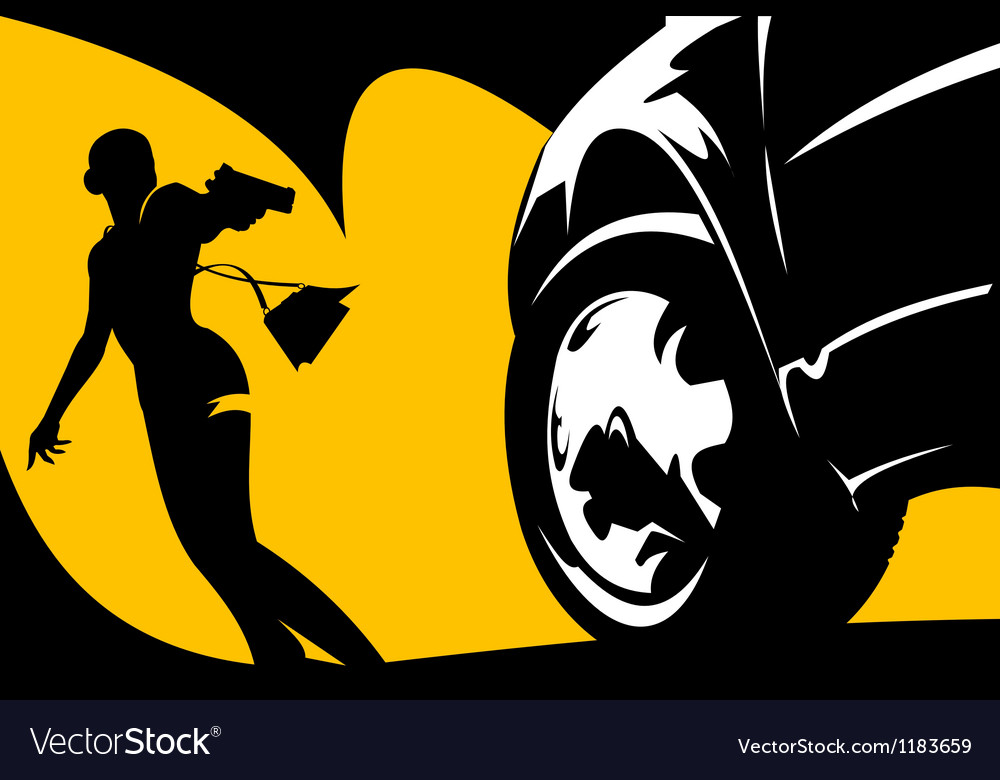 Criminal in the street vector image
