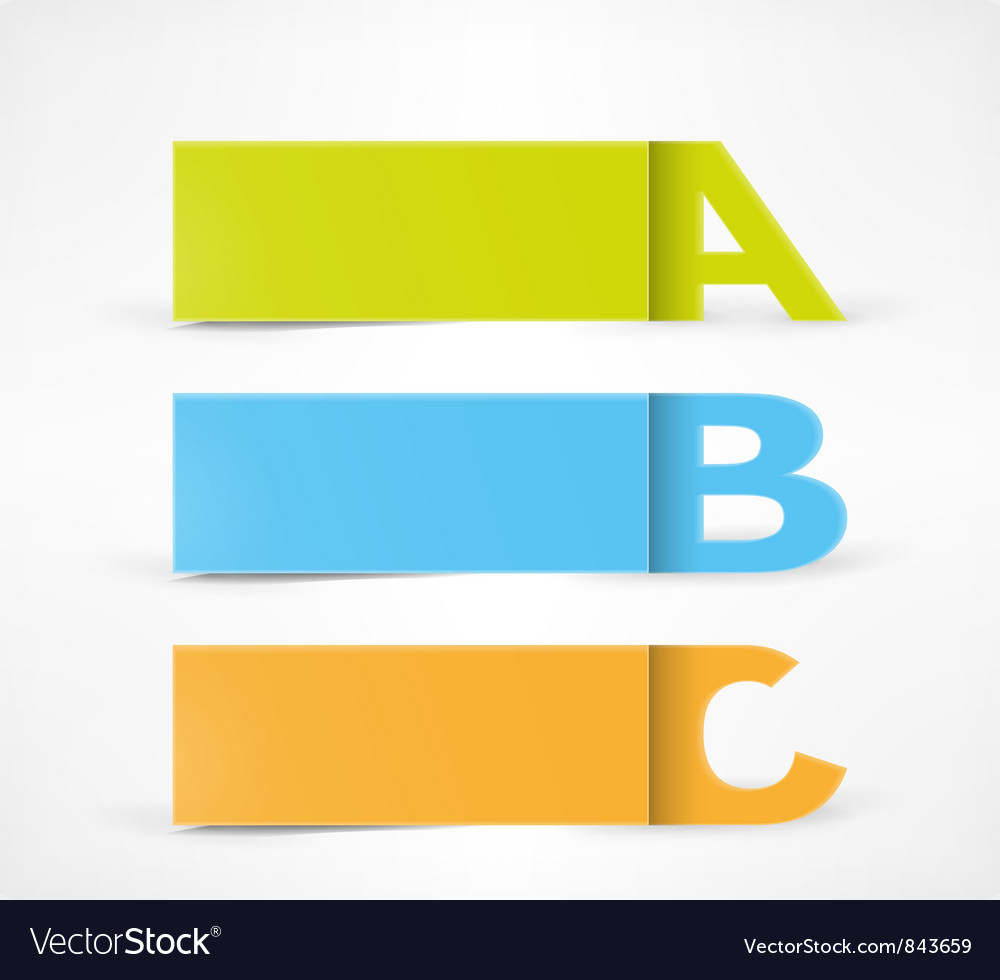 3 Option banners vector image