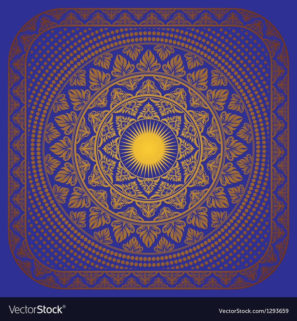 Sun Ornament Frame vector image