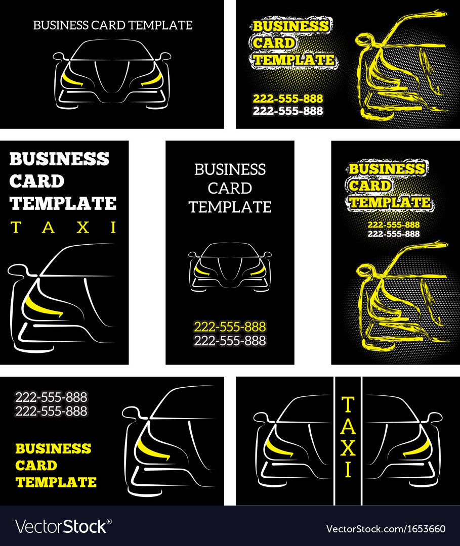 Business card template taxi Royalty Free Vector Image