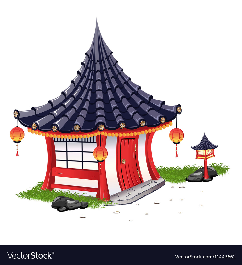Little House on in the Japanese style vector image