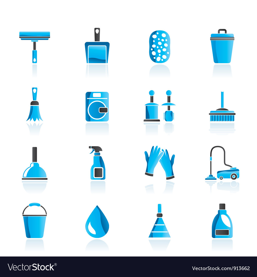 Cleaning and hygiene icons Vector Image