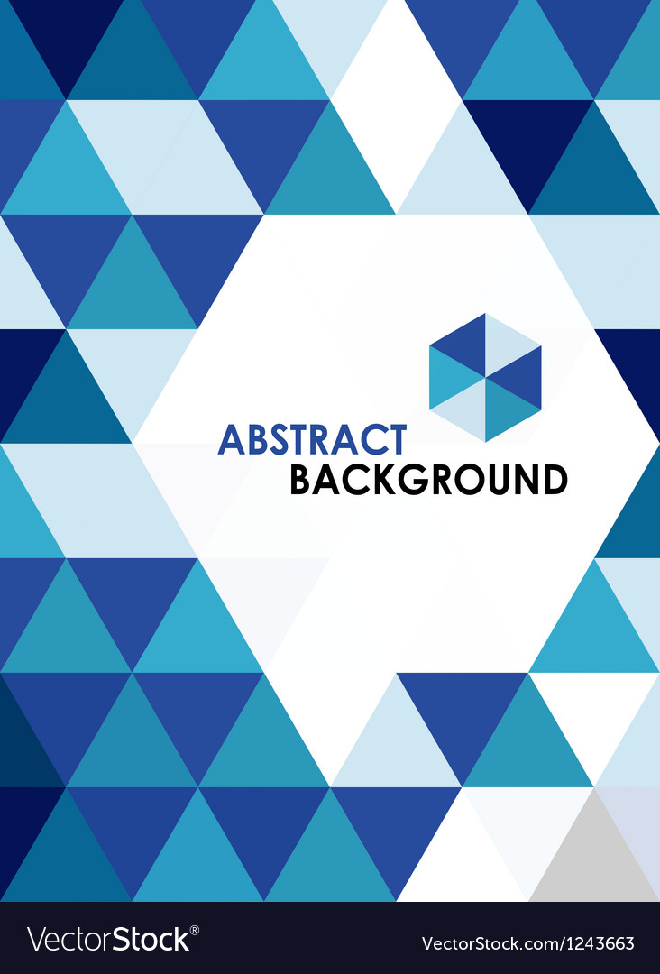 Blue modern geometrical abstract background vector image