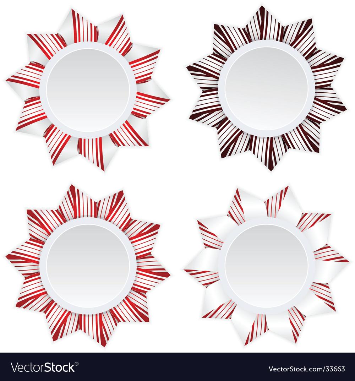 Set of four badges illustration vector image