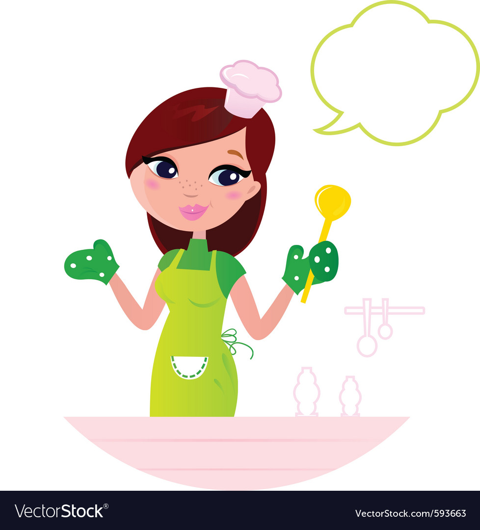 Cooking woman vector image