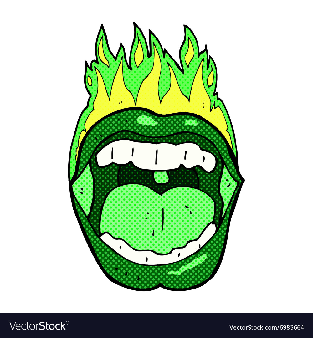 Comic cartoon halloween mouth vector image