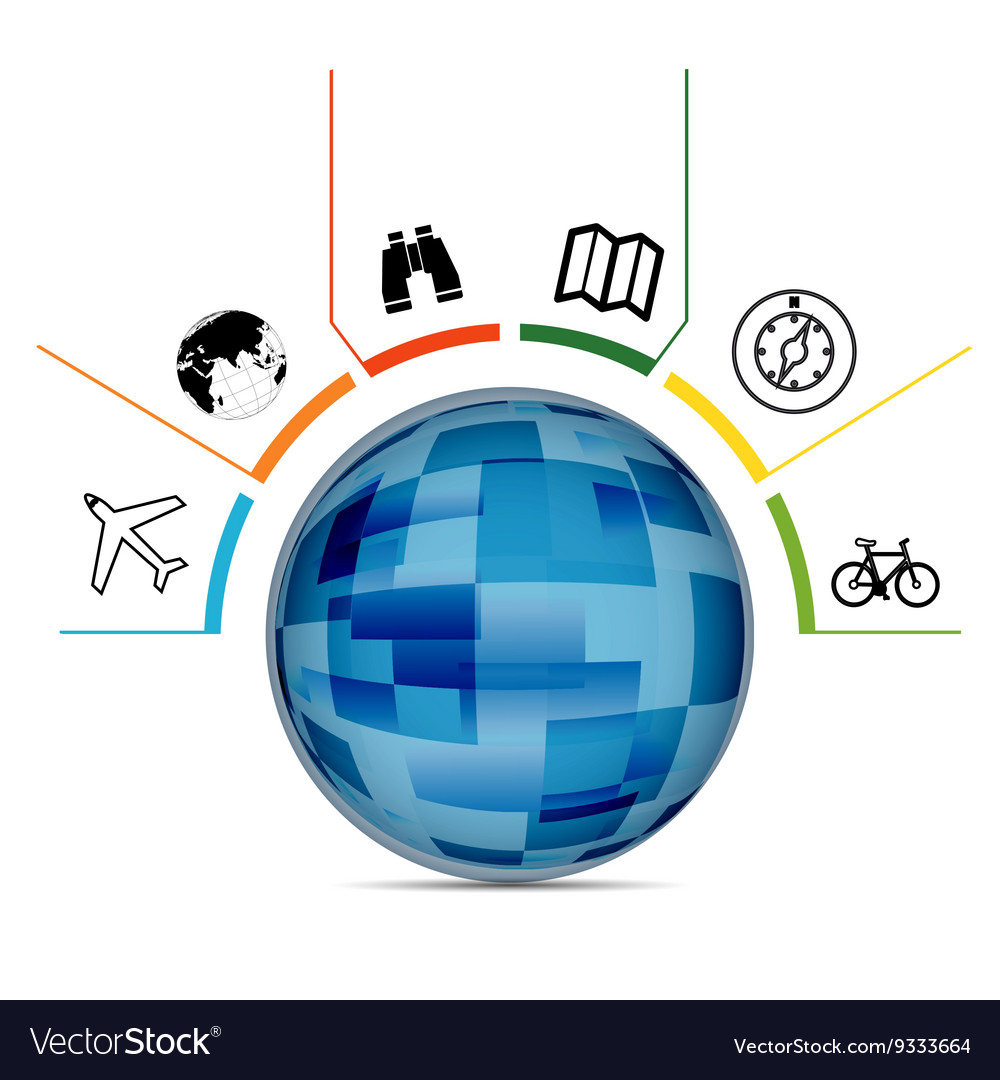 World Infographic vector image
