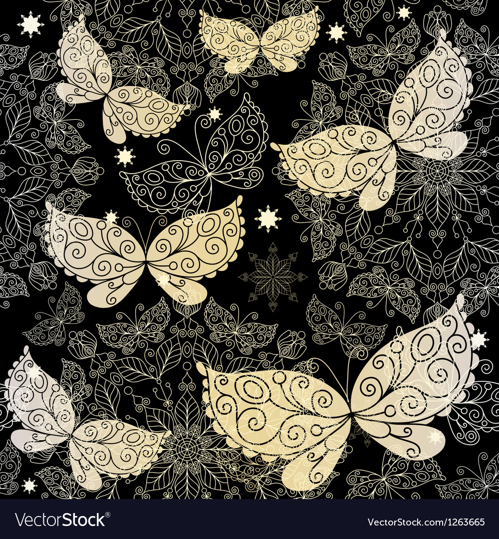 Vintage lacy seamless pattern Vector Image