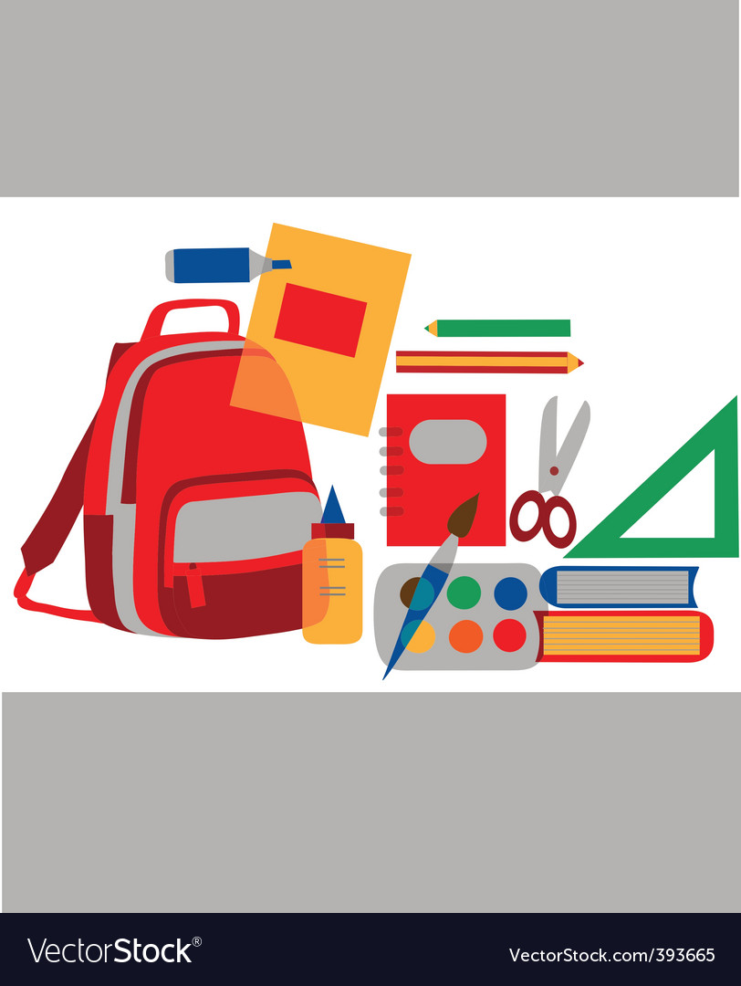 School and class vector image
