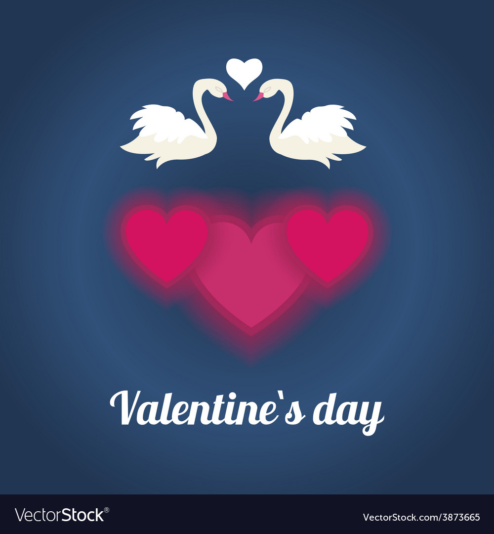 Happy valentines day with white loving couple of vector image