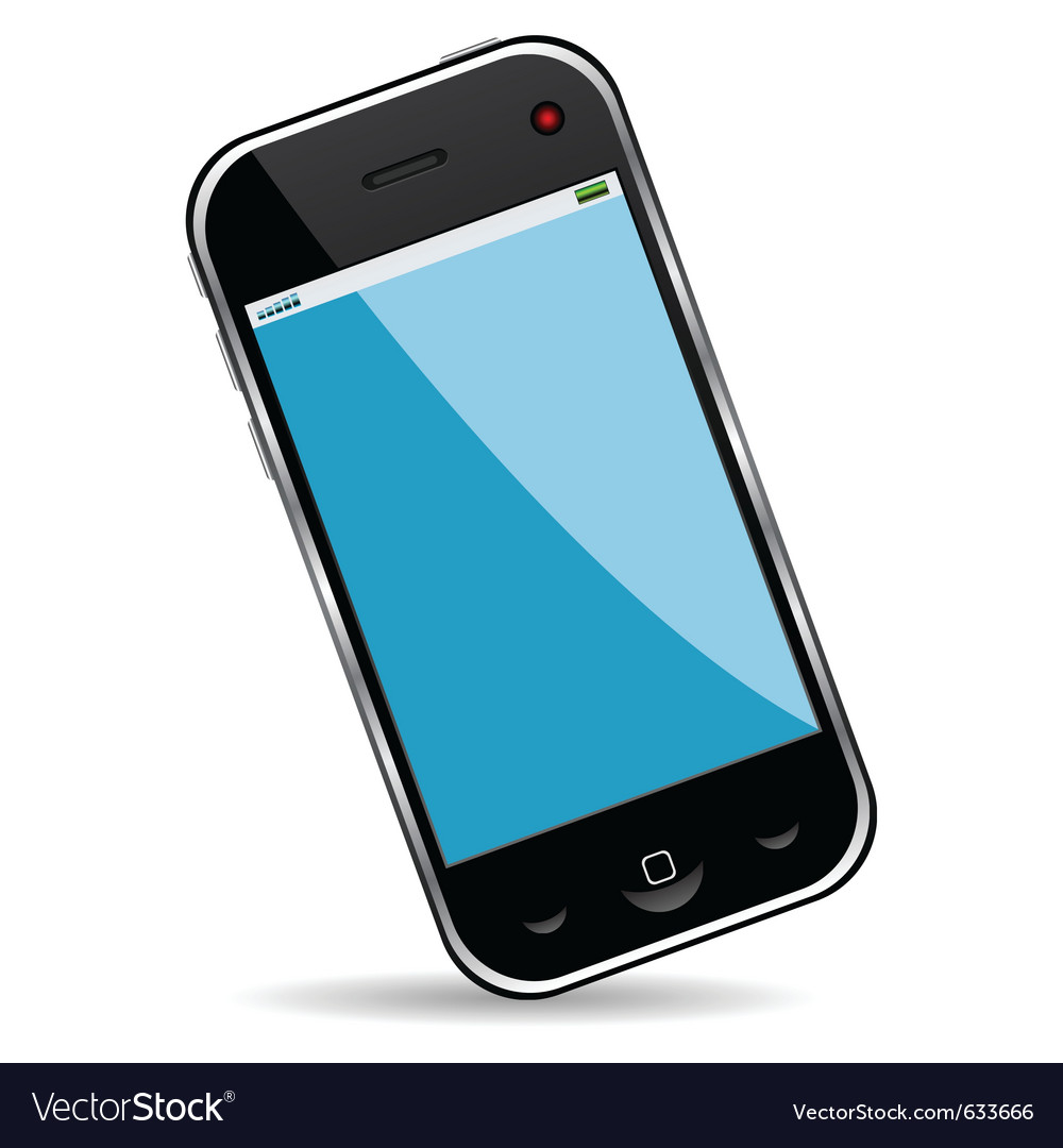 Cell phone over white background vector image