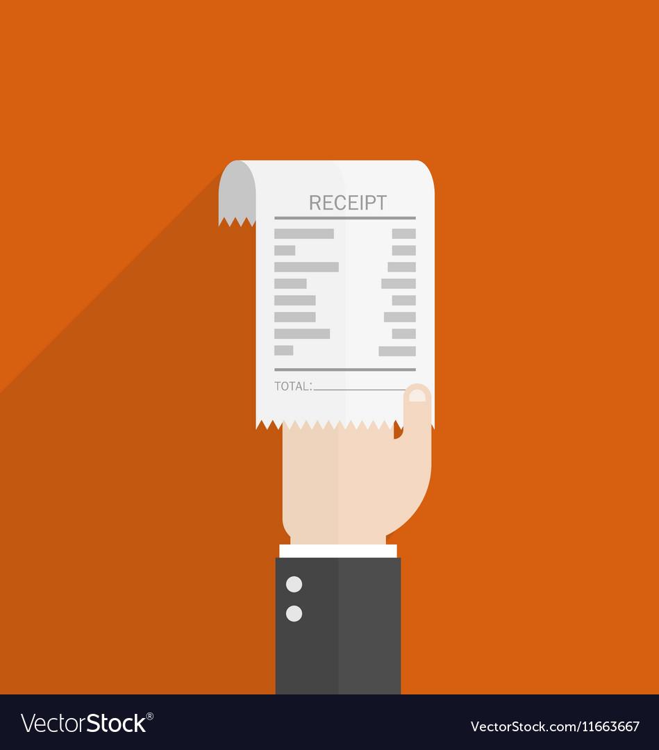 Businessman hand hold receipt bill paper flat Vector Image – Bill Receipt