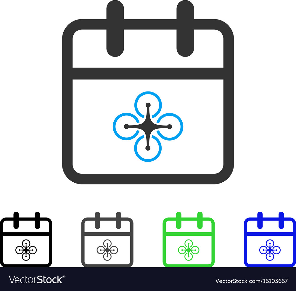 Drone day flat icon vector image