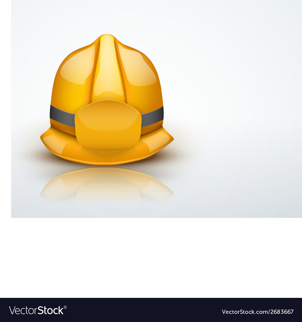 Light Background Gold fireman helmet vector image
