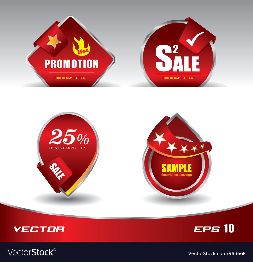 Red sale promotion vector image