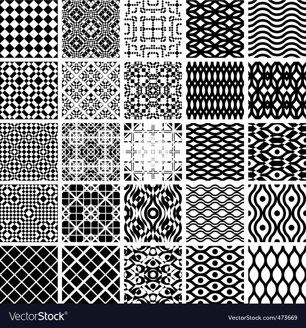 Geometric seamless patterns vector image