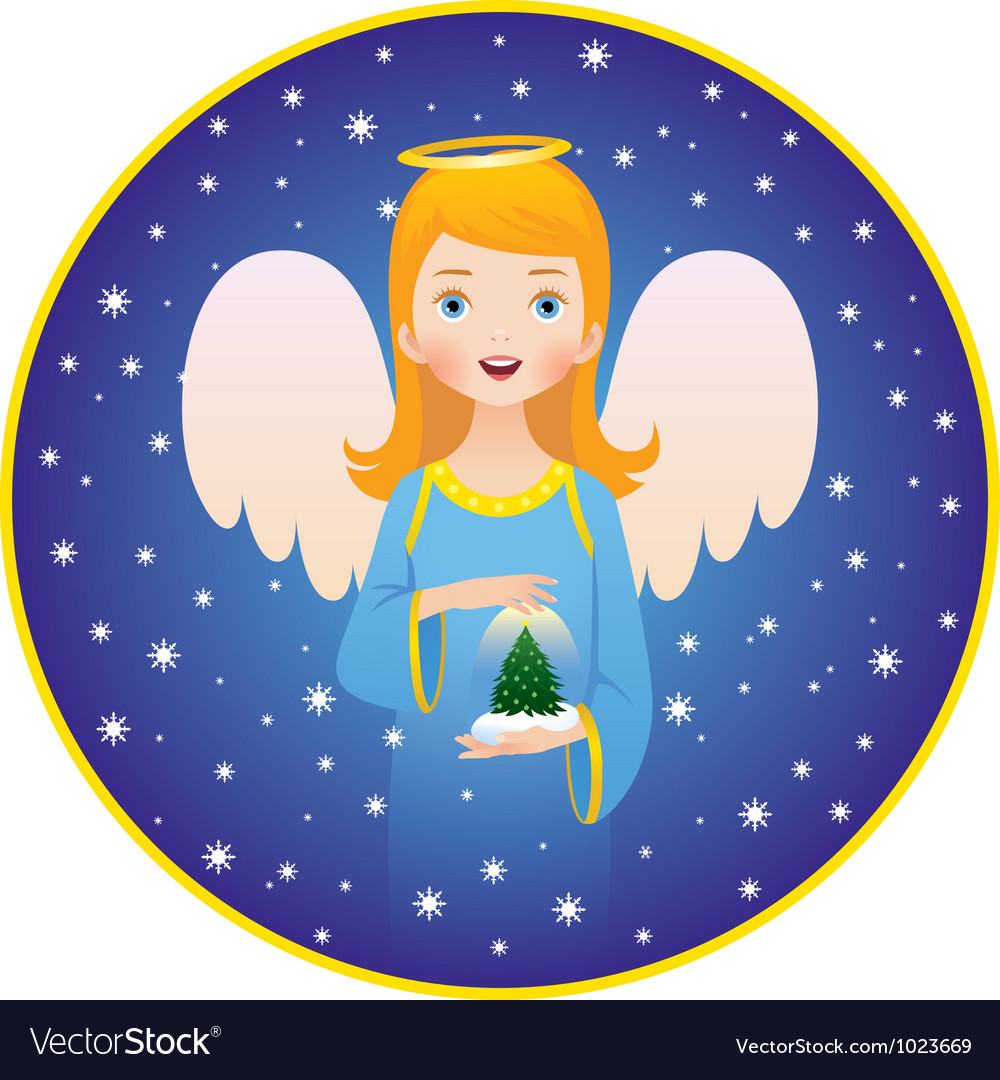 Angel Christmas holidays vector image