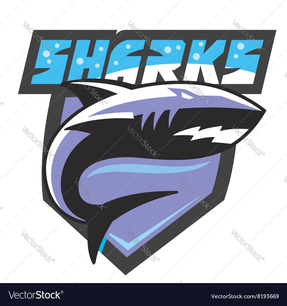 Color shark icon vector image