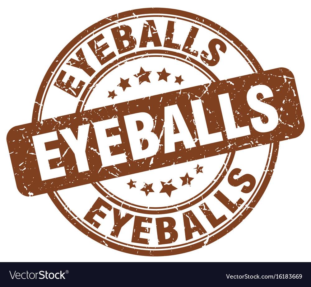 Eyeballs brown grunge stamp vector image