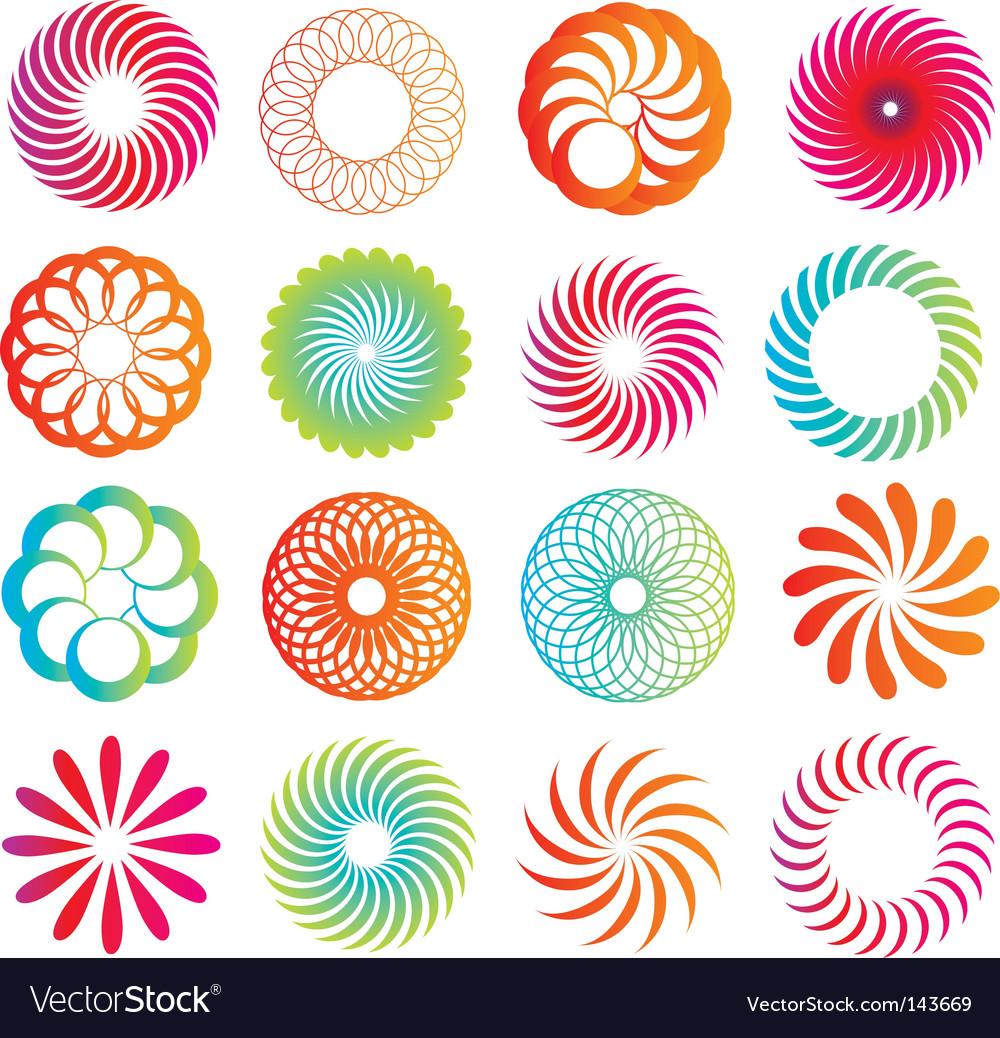 Spirograph designs vector image