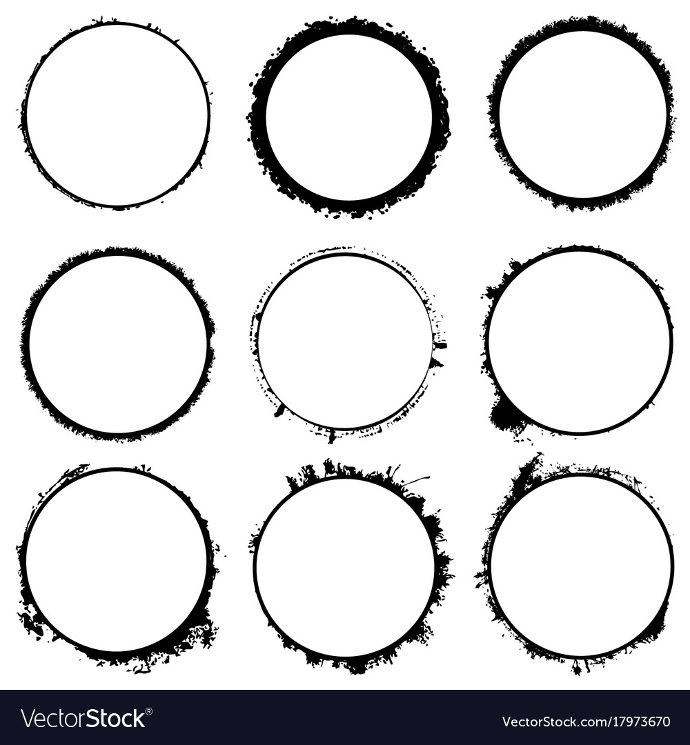 Circular frames set vector image