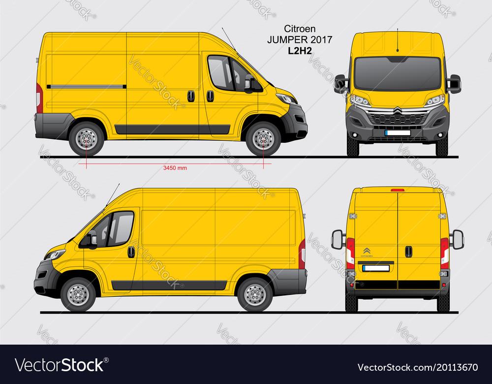 citroen jumper cargo delivery van 2017 l2h2 vector image. Black Bedroom Furniture Sets. Home Design Ideas