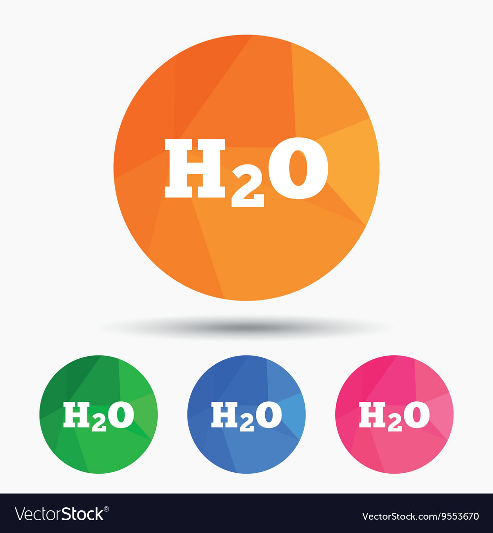H2o water formula sign icon chemistry symbol vector image pooptronica Choice Image