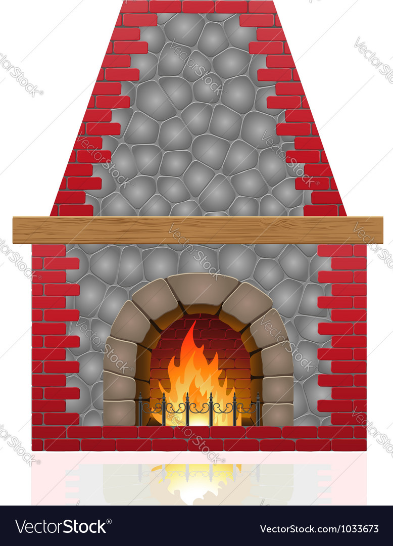 Fireplace 01 vector image