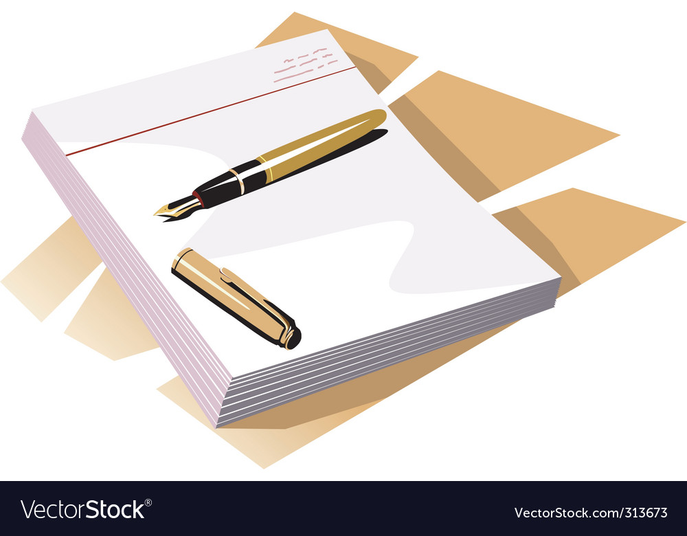 Top of a book vector image