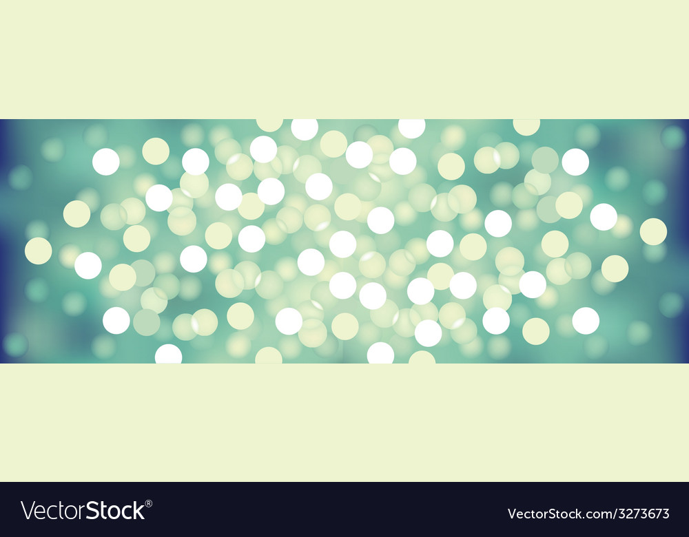 Turquoise festive lights background vector image