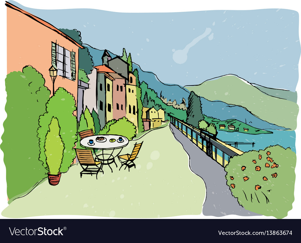 Hand made of italian cafe vector image