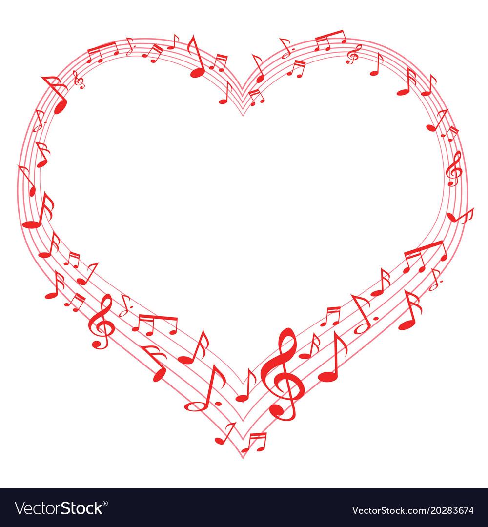 Music Notes Note Melody Heart Shape Heart Shapes Shape