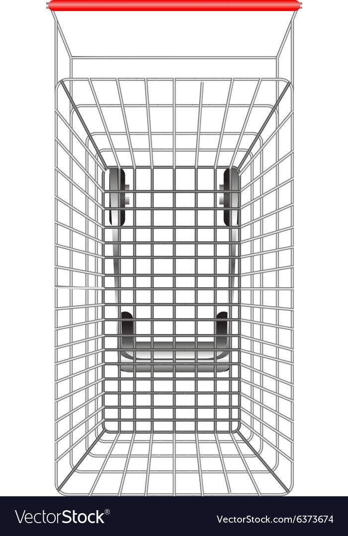 Shopping cart from topview vector image