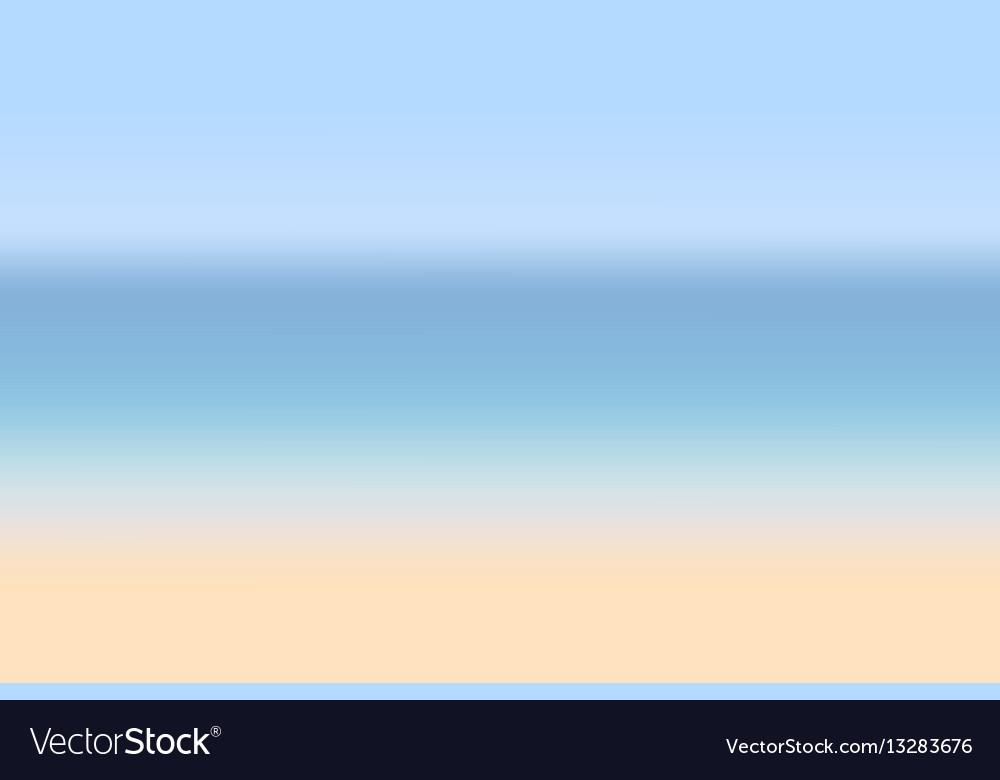 Sea coast summer vector image