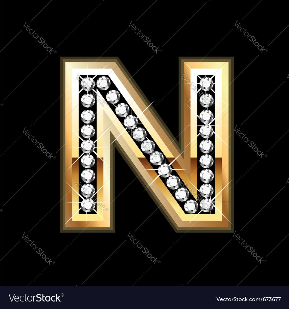 N bling Vector Image
