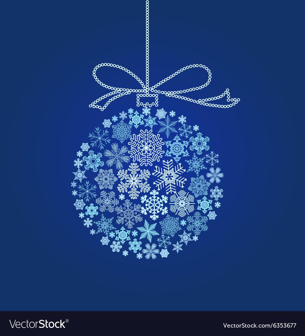 Blue Christmas ball - vector image