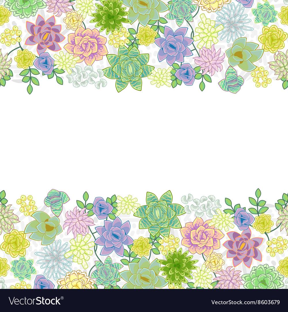Garden Stock Image Image Of Design: Succulent Garden Border Card Design Royalty Free Vector