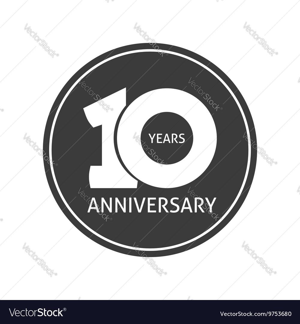 10 year anniversary vector images over 580 years 10 anniversary sticker 10th year vector biocorpaavc