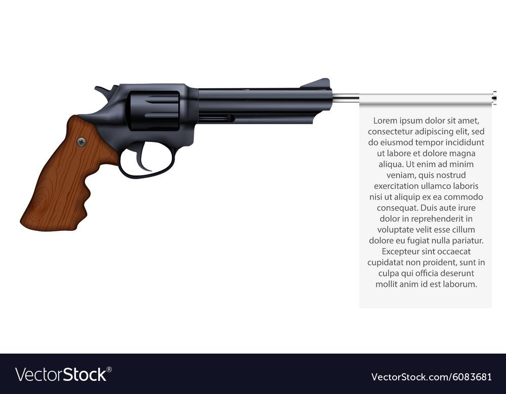 Big Revolver with empty flag vector image