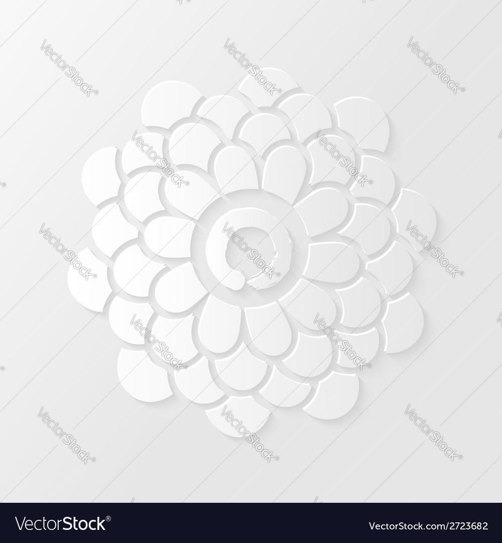 Lotus flower and Zen circle vector image