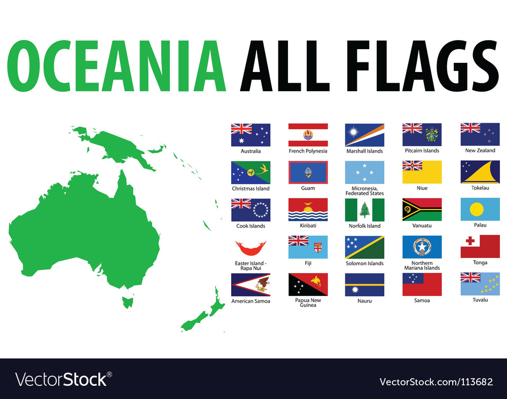 oceania all flags royalty free vector image vectorstock us flag graphic transparent us flag graphic black & white