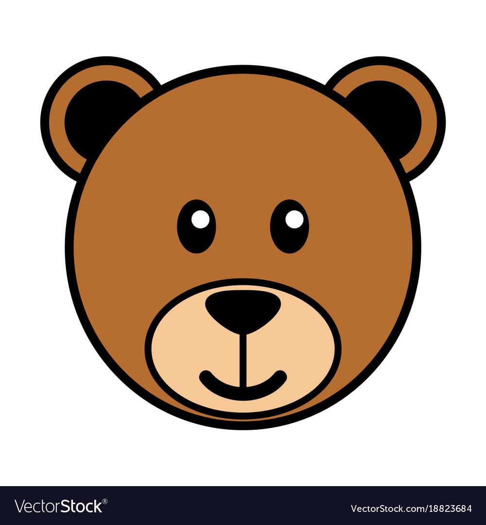 Simple cartoon of a cute bear vector image