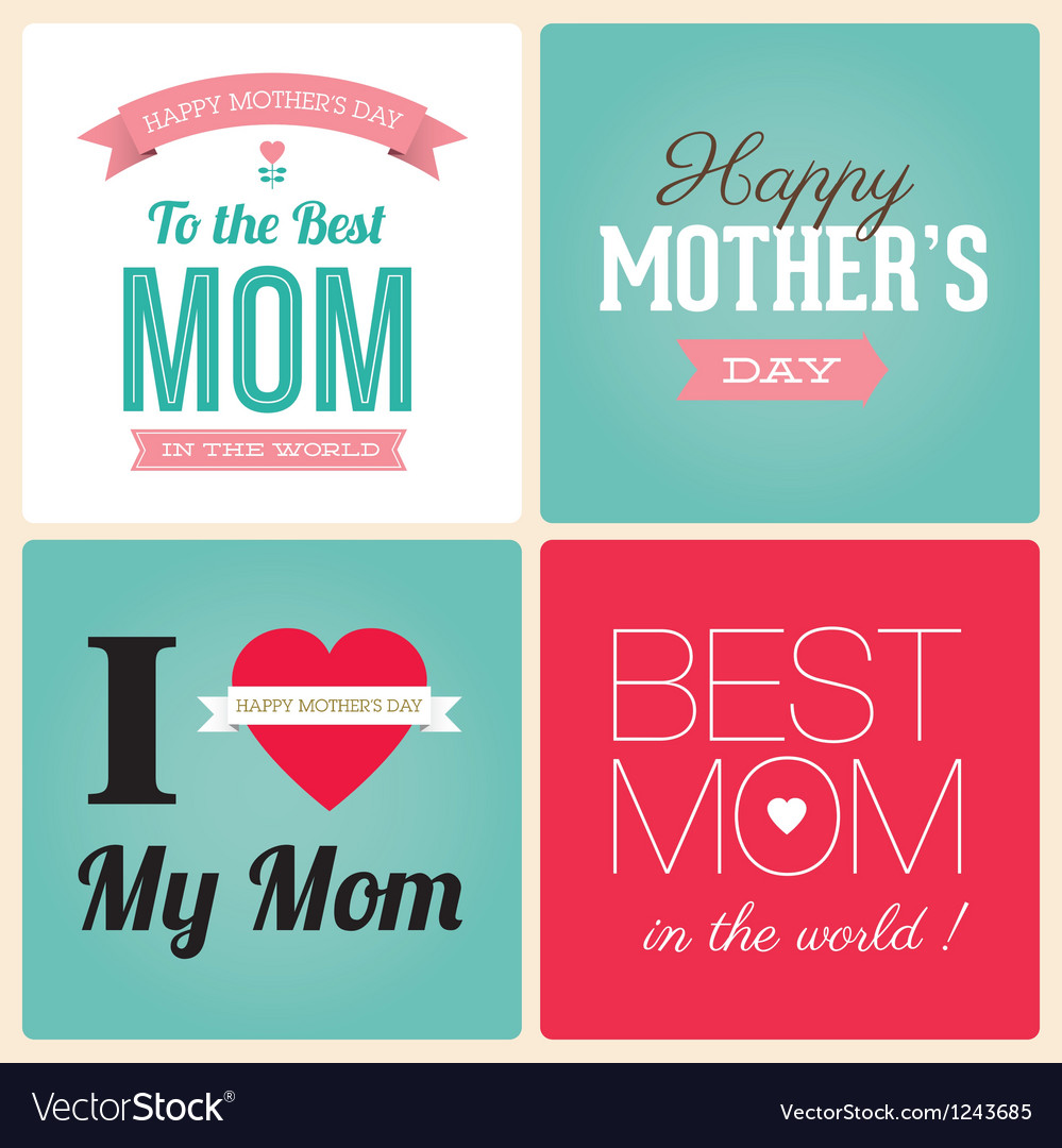 Mothers day cards vector image