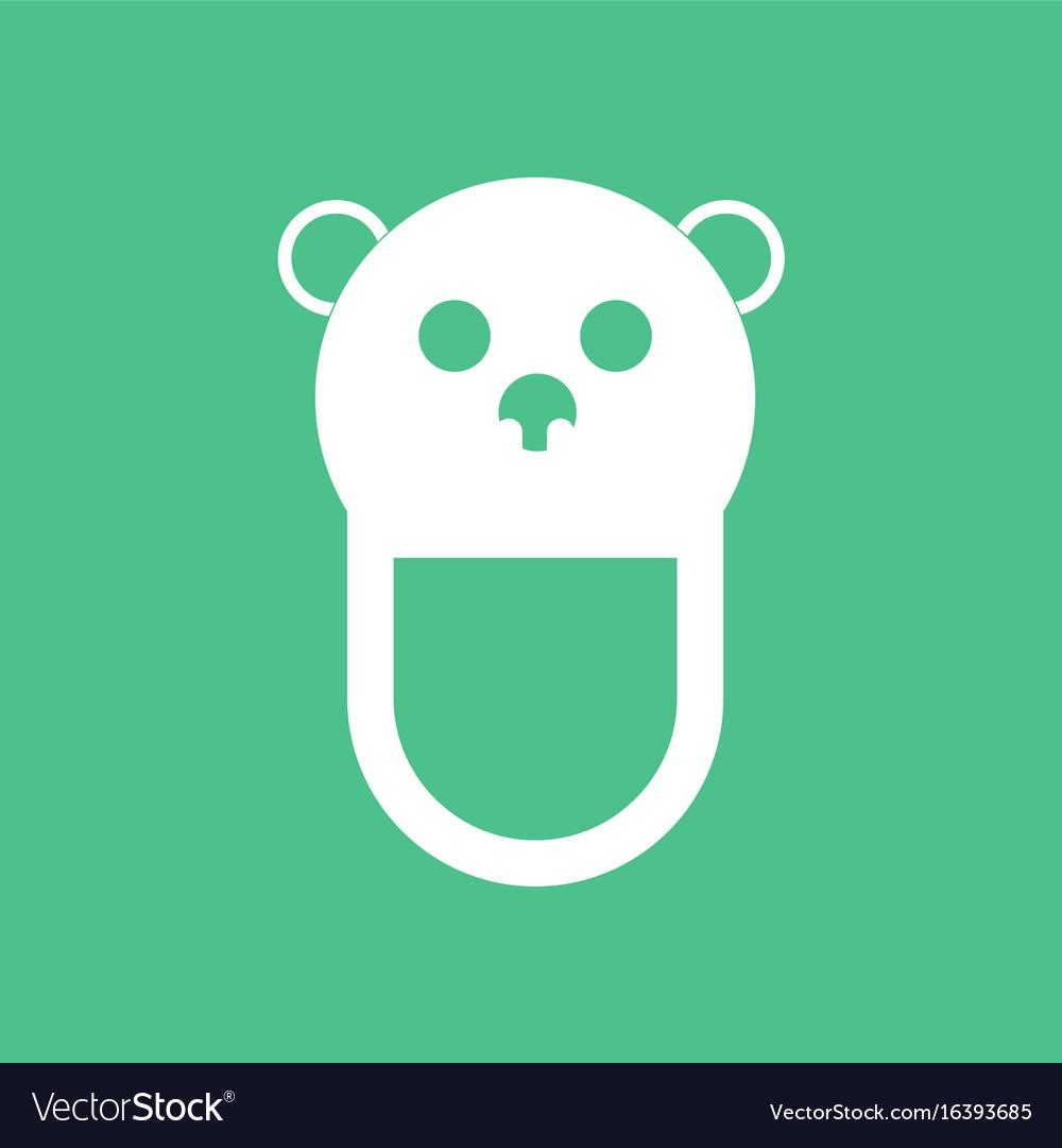 Icon on background teddy bear bib vector image