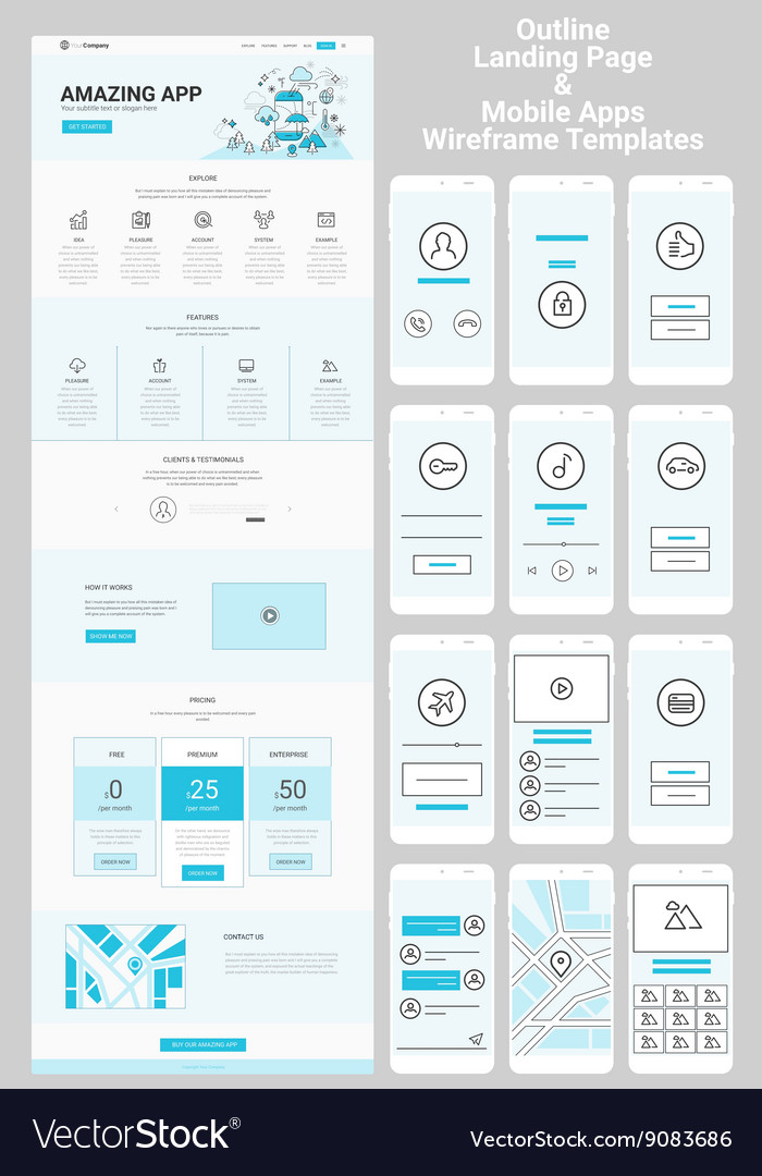 app wireframe template
