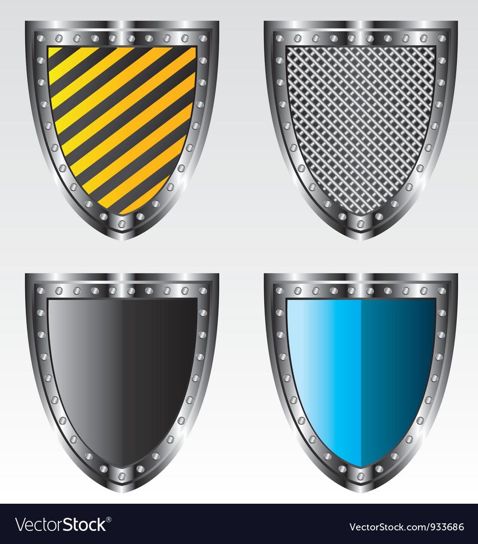 Shields set vector image