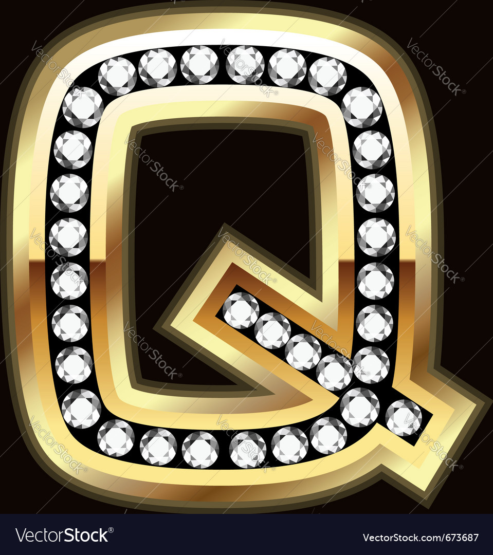 Q bling vector image